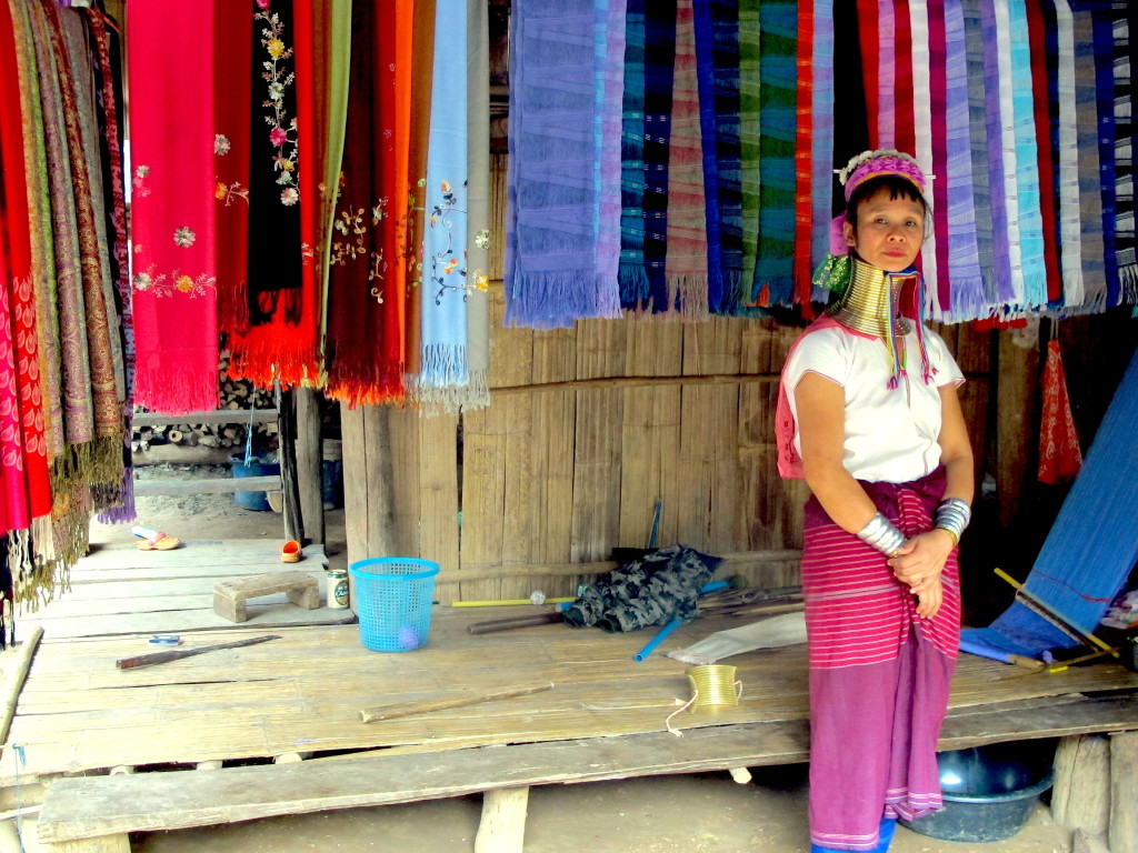 Karen People, Long Neck Village  Chiang Mai, Thailand