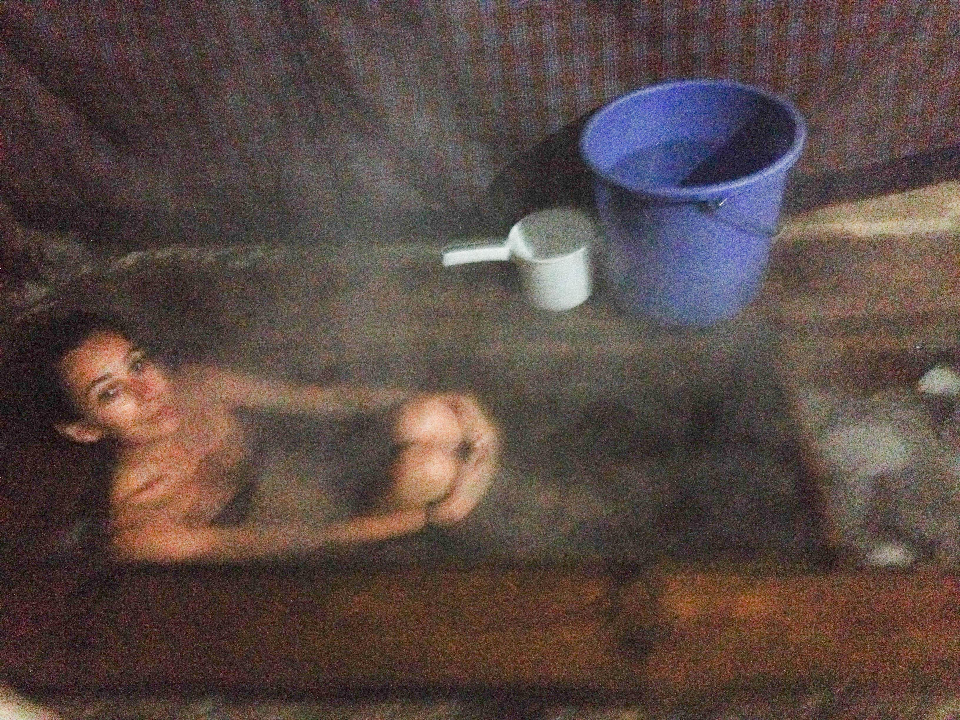 aahhhh steaming hot bath